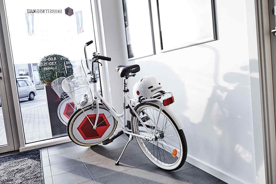 Gratis lån af kundecykel eller lånebil hos Skorstensgaard i Aalborg