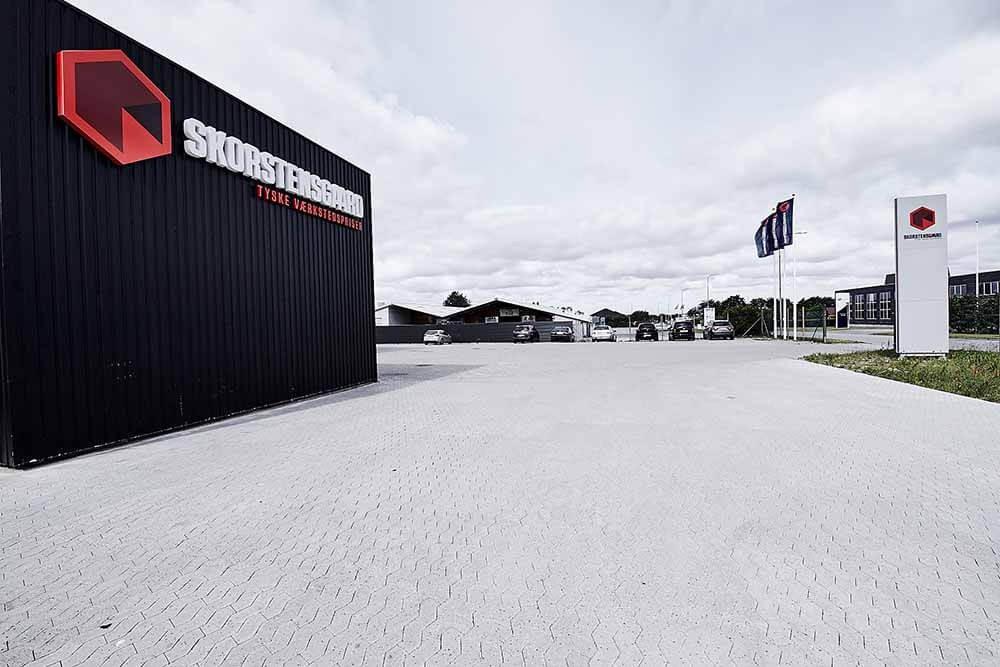 Skorstensgaard værksted i Esbjerg - gode parkeringsmuligheder
