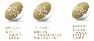 Skorstensgaard er nomineret til 3 Auto Awards i 2018: Årets værksted, Årets karosseriværksted, Årets Værkstedskæde