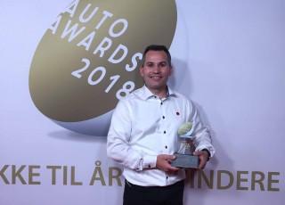 Martin Skorstensgaard, COO, modtog prisen for Årets Værksted 2018 ved Auto Awards i København