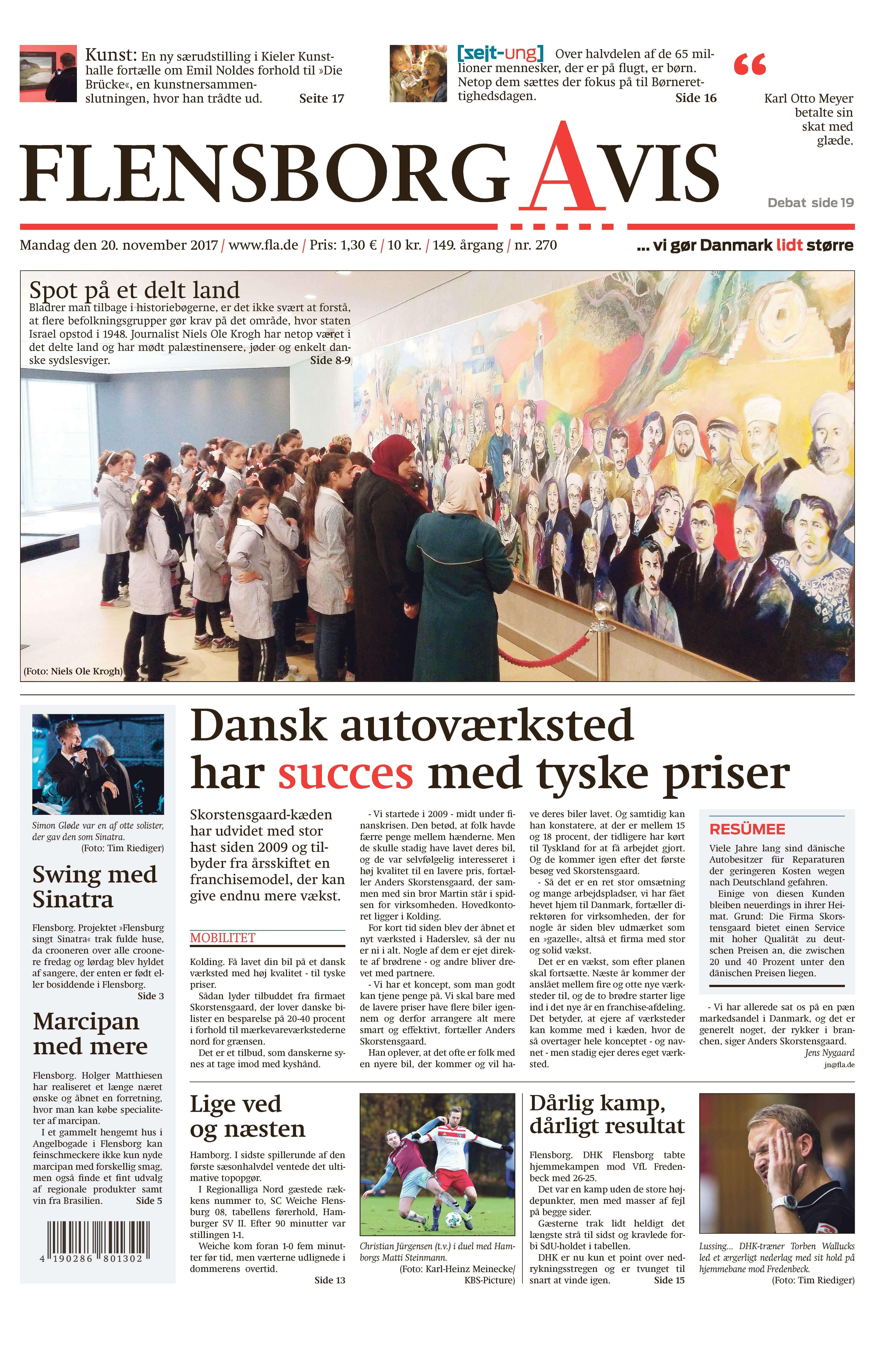 Skorstensgaards Værksteds koncept nævnes i Flensborg Avis