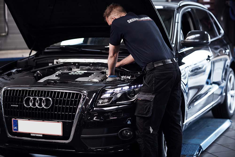 Mekanikere med speciale i Audi hos Skorstensgaard Holstebro
