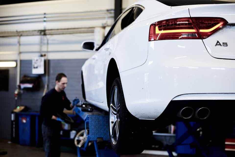 Audi på værksted - Benyt Skorstensgaard i Horsens og spar 20-40% ift. mærkeværkstedet
