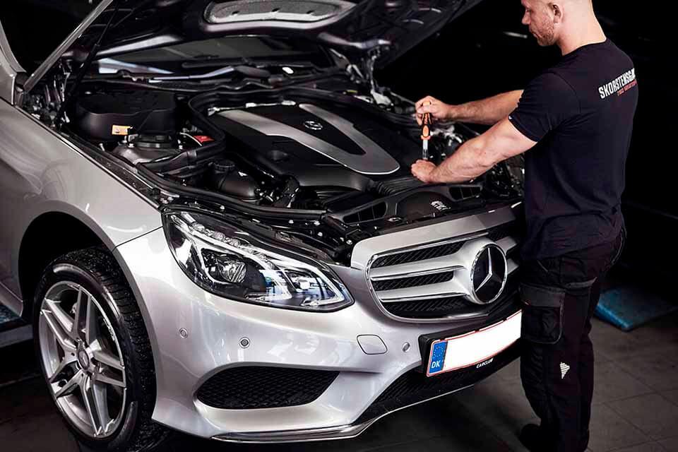 Mercedes service og reparation tilbydes til god pris ved Skorstensgaard Horsens